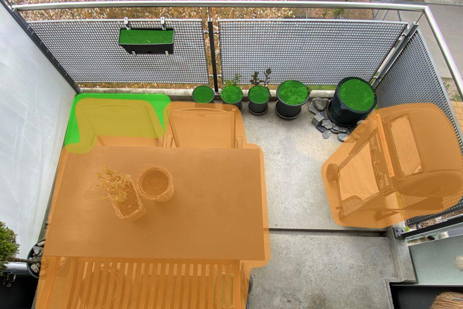 Platz für Pflanzen (grün)
