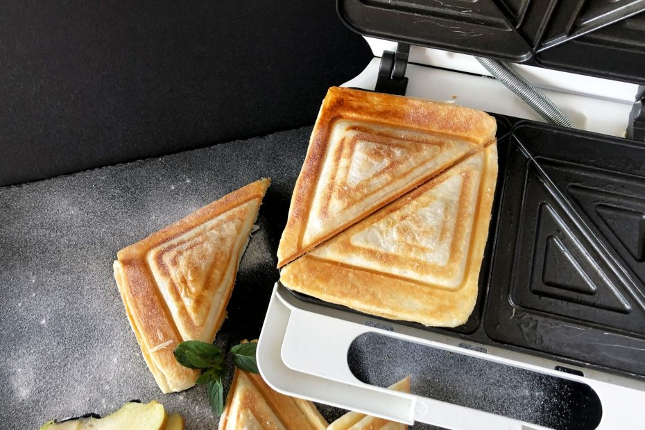 Blätterteig Apfeltaschen im Sandwichmaker zubereitet