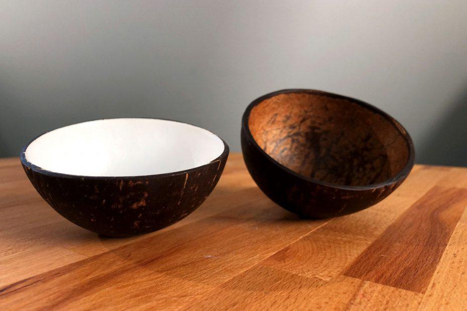 Tolle Dekoschalen aus Kokosnuss